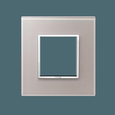 24642.73 - Bevelled crystal pearl grey