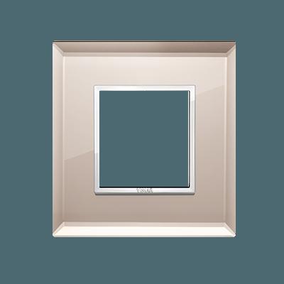 24642.75 - Bevelled crystal bronze mirror